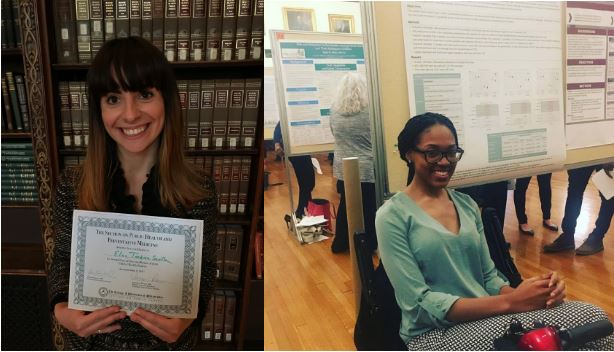Congratulations to two of our MPH students, Elina Tonkova Sevilla and Quadeera Jackson, who won poster awards at the College of Physicians this year!